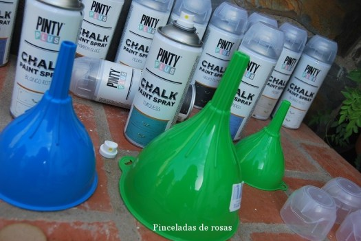 Candelabros con Chalk- Paint de PINTY PLUS