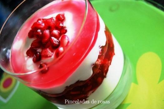 Granadas maceradas con yogur!