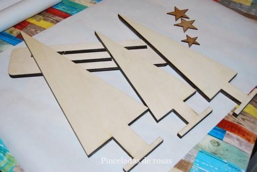 1... Siluetas con formas de árbol y de madera de Chopo