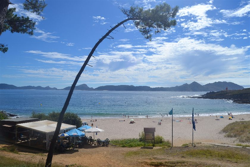 Playa Melide, Cabo Home, Pontevedra, España