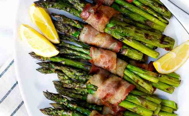 Grilled Bacon Wrapped Asparagus Pinch And Swirl