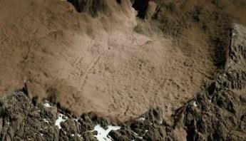 Рис. 3 Кратер 30 км диаметра от столкновения с метеоритом, 12 000 до н.э. Гренландия