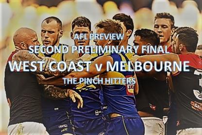 AFL Preview: Second Preliminary Final – West Coast v Melbourne