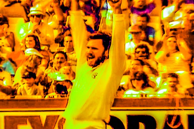 Friday Flashback: Allan Border celebrates on of his seven wickets on Australia Day 1989