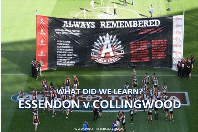What did we learn? Essendon vs Collingwood