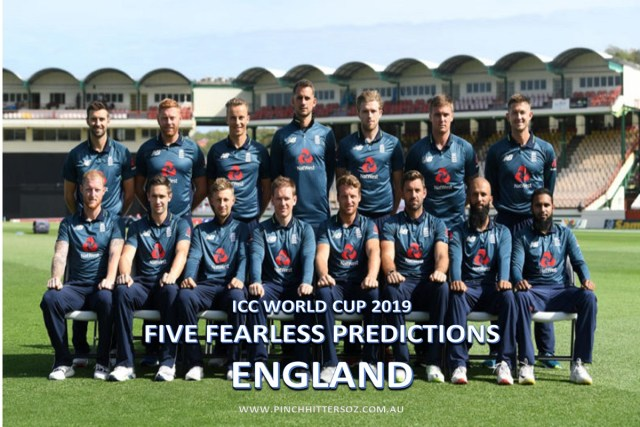 Five Fearless Predictions: England World Cup 2019