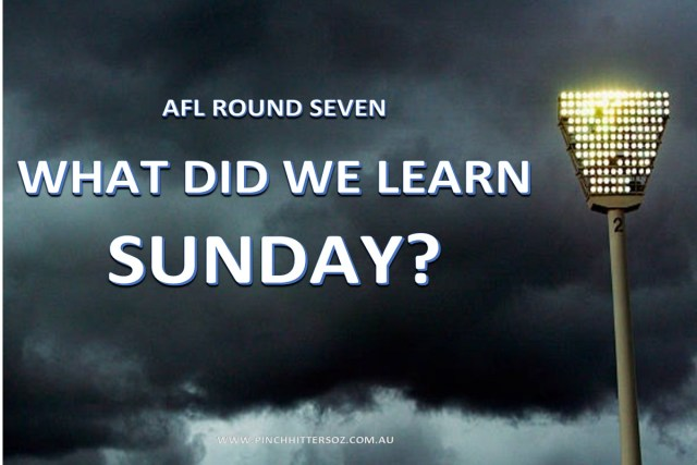 What did we learn Sunday?