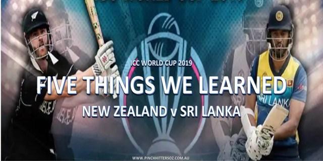 CWC19: New Zealand vs Sri Lanka – Five Things We Learned