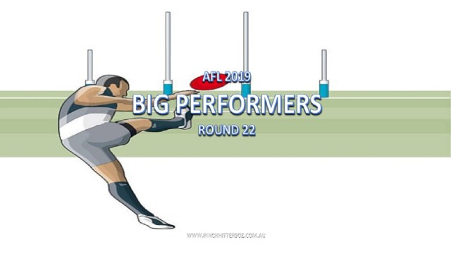 AFL 2019: Round 22 – Big Performers