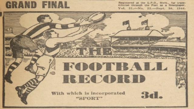 Finals Flashback: 1944 Grand Final – Fitzroy v Richmond