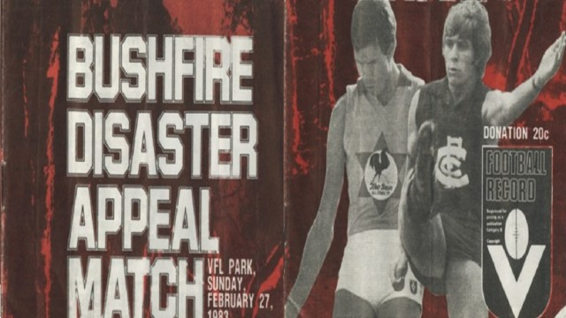 Footy Flashback: 1983 Bushfire Appeal Match – Carlton v All-Stars