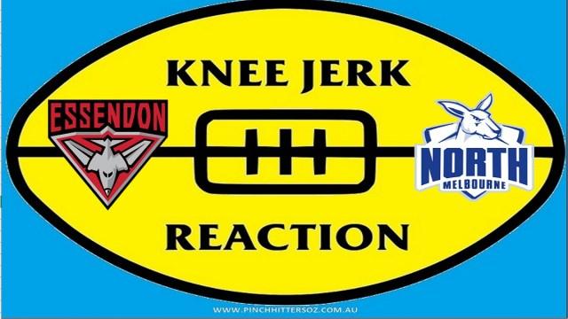 AFL 2020: Essendon v North Melbourne – Round Six Knee Jerk Reaction