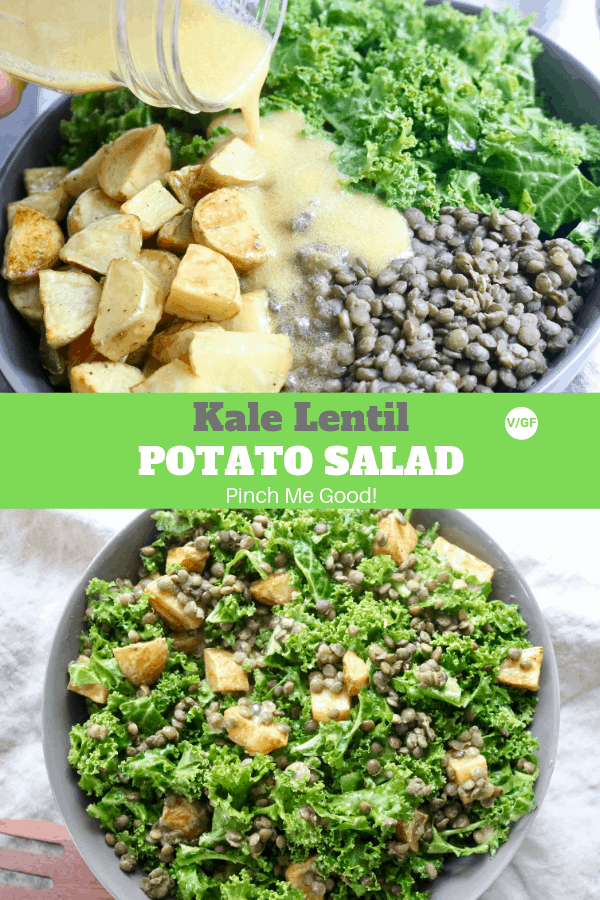 Kale Lentil Potato Salads with a Lemon Mustard Vinaigrette