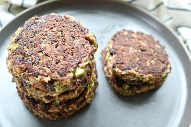 Black bean mushroom burger