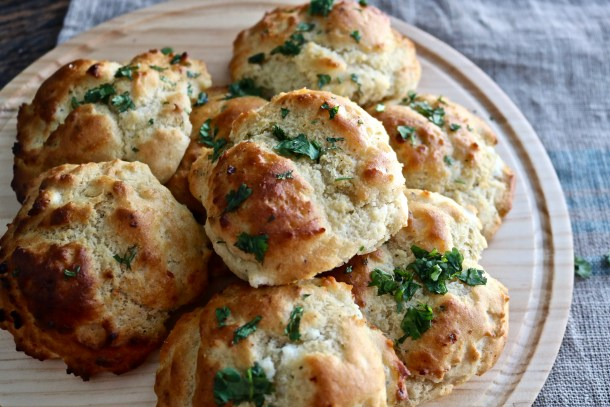 Gluten-free biscuits with herbs and goat cheese picture