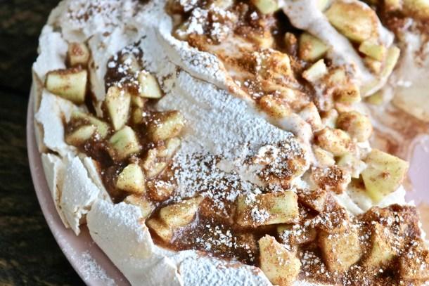 Apple Cinnamon Pavlova with Coconut Cream Photo