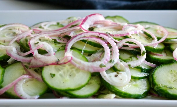 Cucumber and Red Onion Salad Picture