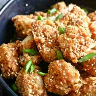 Sweet and Spicy Baked Cauliflower Wings