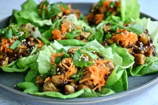 Asian Tofu Lettuce Cups