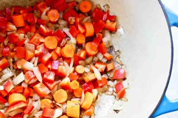 Veggies for pumpkin butternut squash soup