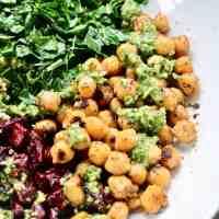 Chickpeas and Greens Buddha Bowl