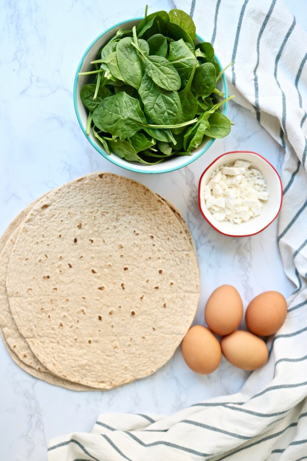 Egg White spinach wrap ingredients