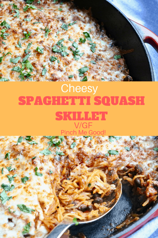 Cheesy Spaghetti Squash Skillet - with Black Beans