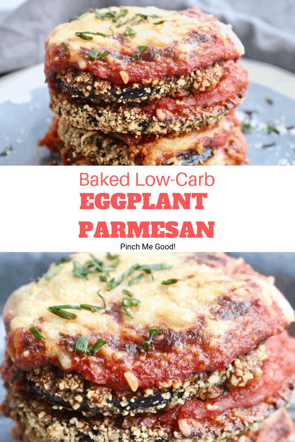 Baked Low-Carb Eggplant Parmesan