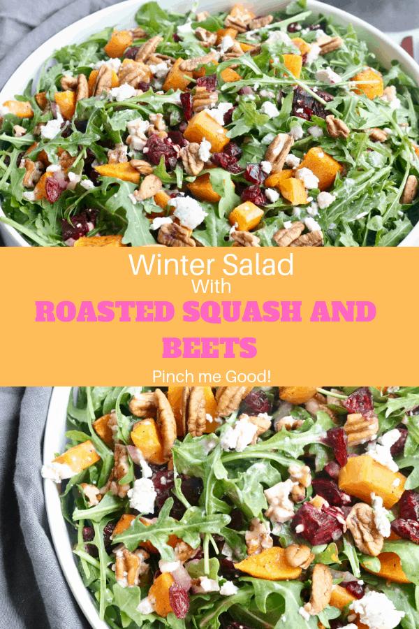 Winter Salad Pinterest Graphic