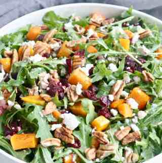 Arugula salad with squash and beets