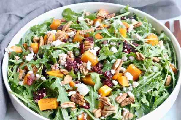 Arugula salad with squash and beets