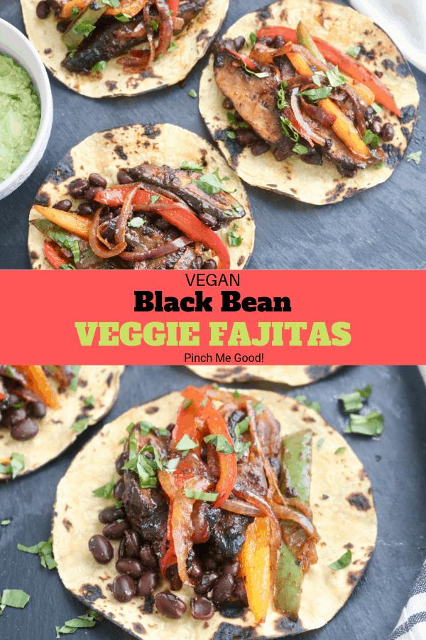 Black Bean Veggie Fajitas - Vegan