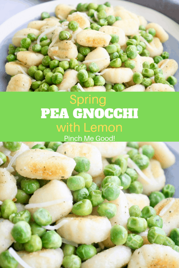 Spring Pea Gnocchi with Lemon - Vegetarian/Gluten-Free!