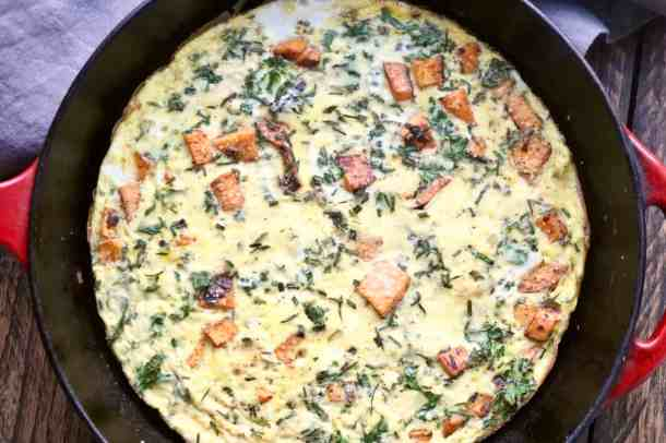 Veggie Frittata in pan