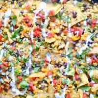 Black Bean and Corn Sheet Pan Nachos