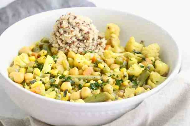 Vegan Vegetable Chickpea Curry in a bowl
