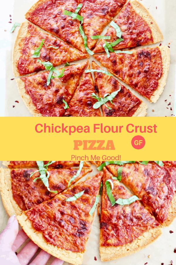 Chickpea Flour Crust Pizza - Gluten-Free