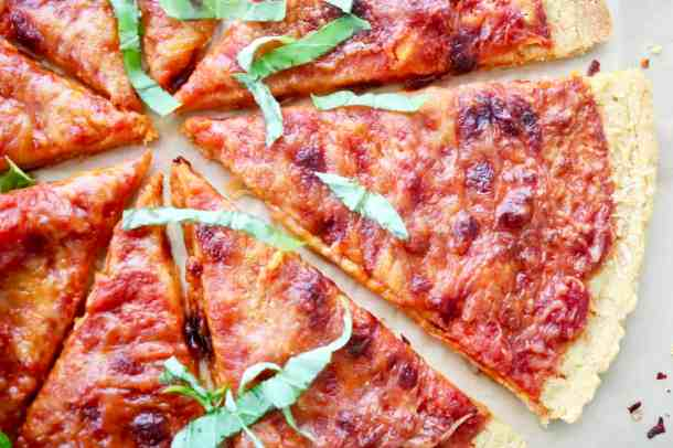 Close up of gluten free pizza