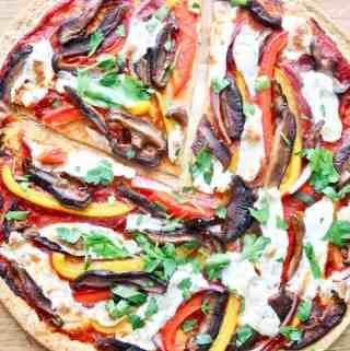 Low carb tortilla pizza