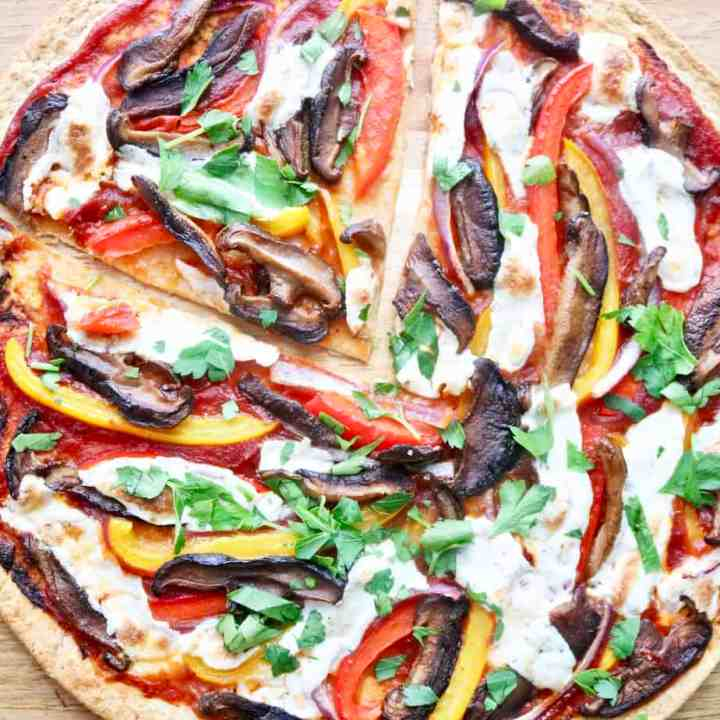 Low carb tortilla pizza