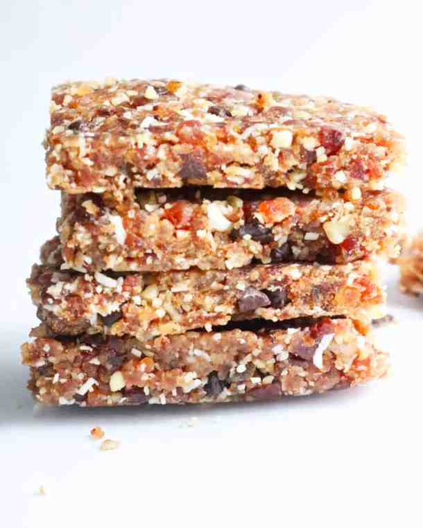 Stack of energy date bars