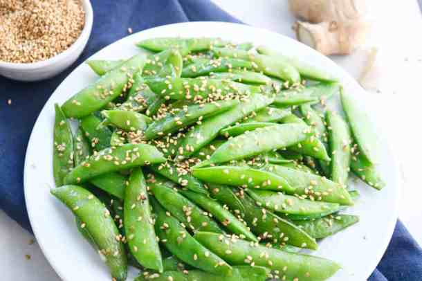 Sugar Sanp Peas with Sesame Seeds