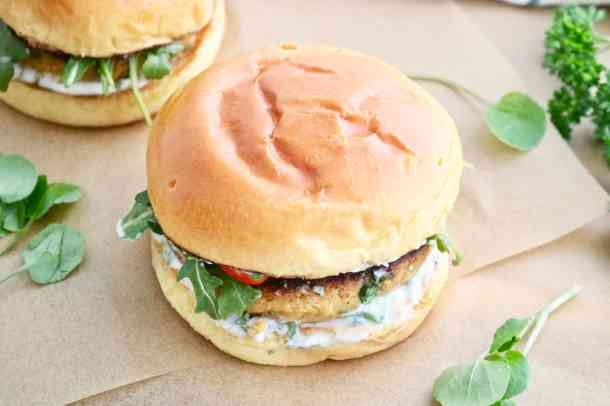 Two Chickpea Cauliflower Burgers
