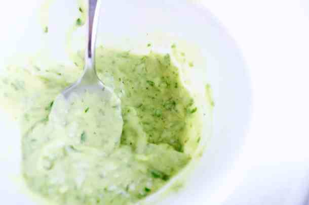 Avocado cream sauce