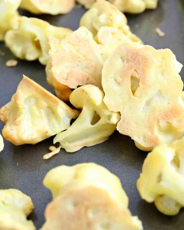 Baked Cauliflower on sheet pan