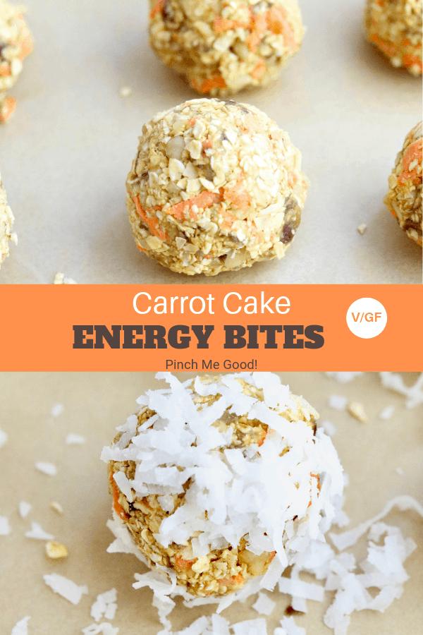 Carrot Cake Energy Bites - Vegan