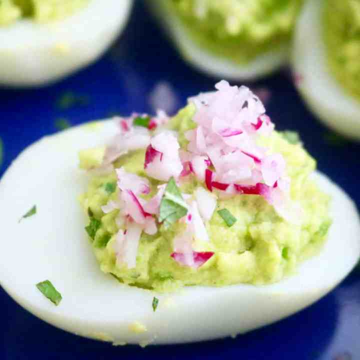 Easy Spring Pea Deviled Eggs