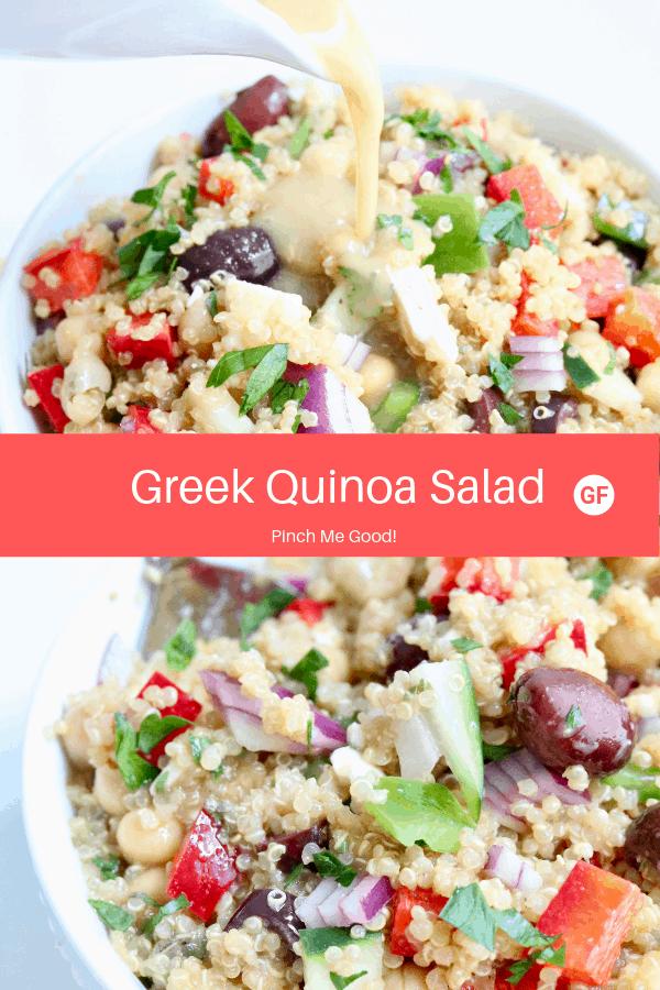 Greek Quinoa Salad - GF