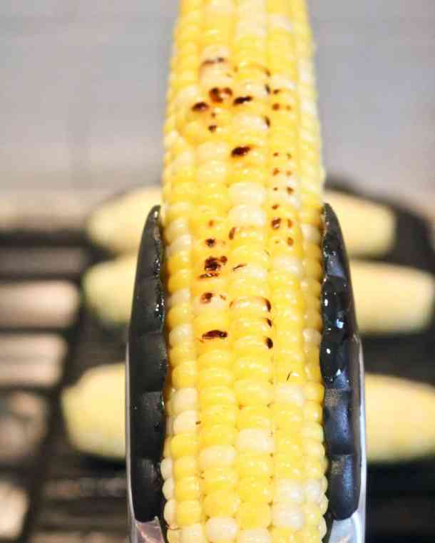 Grill marks on corn