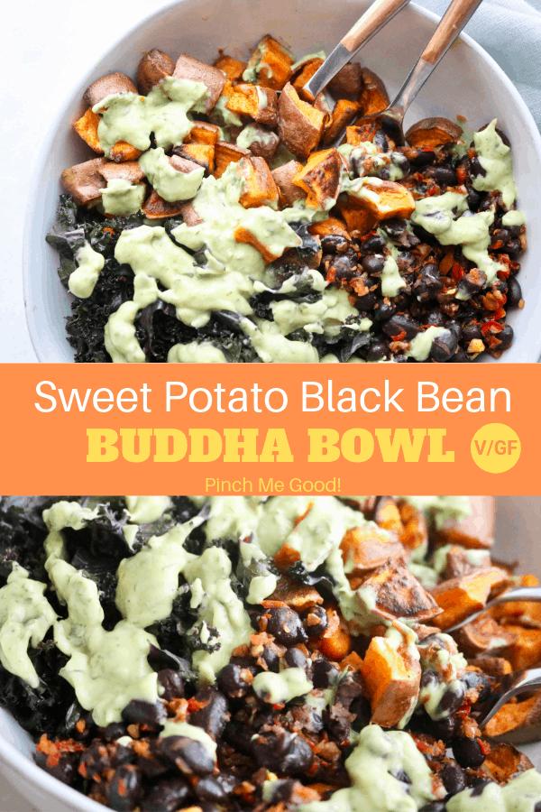 Sweet Potato Black Bean Buddha Bowl - Vegan/Gluten-Free